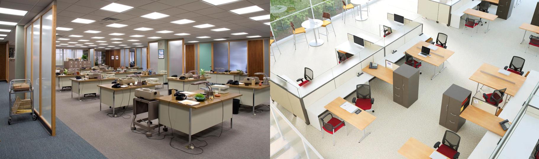 Distribuci n dise o y creaci n de oficinas corporativas ayer y hoy c3 design allsteel c3 for Distribucion oficinas